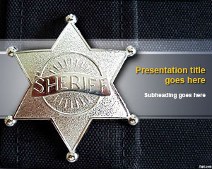 Sheriff PowerPoint Template