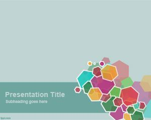 Menarik Hexagon PowerPoint Template