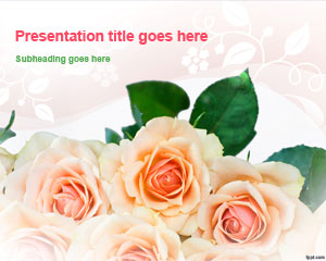 Bunch of Roses PowerPoint Template