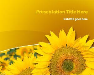 Sunflower Plant PowerPoint Template