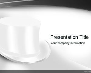 Template Top White Hat PowerPoint