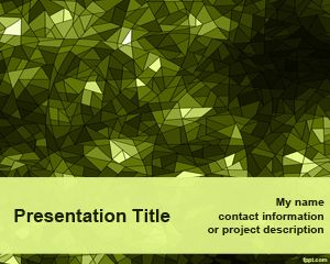 Template hijau Kaleidoscope PowerPoint