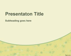 Yellow Floral PowerPoint Template