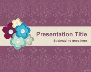 Flower Scrapbook PowerPoint Template