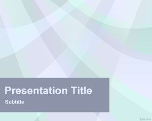Cyan Rays PowerPoint Template