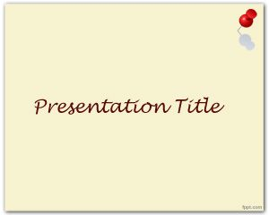 Thumbtack PowerPoint Template