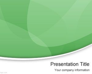 Green Modern PowerPoint Template