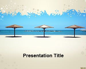 Template payung Pantai PowerPoint