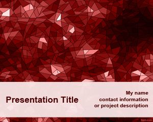 Red Kaleidoscope PowerPoint Template