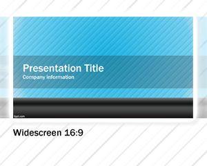 Blue Widescreen PowerPoint Template