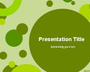 Green Circles Design Presentation Template for PowerPoint