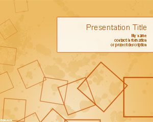 Template quadrados PowerPoint