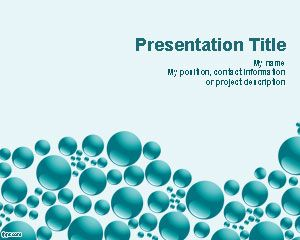 Blue Spheres PowerPoint Template