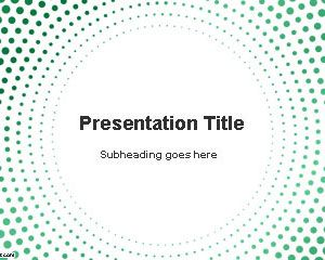 Circular Dots PowerPoint Template
