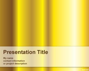 Template ouro PowerPoint Pure