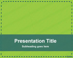 PowerPoint modelo Coupon Verde