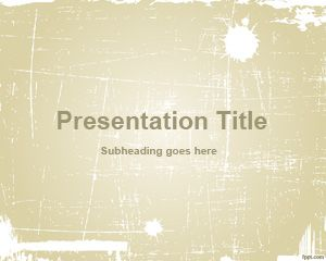 Template Sepia abstrato PowerPoint