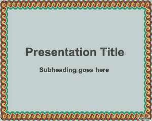 Decorative Frame PowerPoint Template