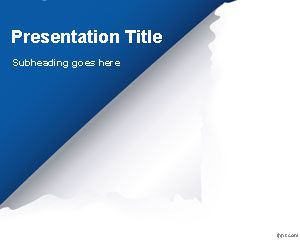 Page PowerPoint Template flip