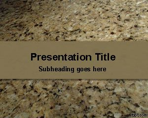 Granite Stone PowerPoint Template