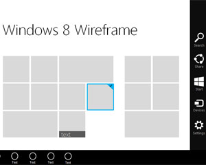 Windows 8 Home Wireframe Template for PowerPoint