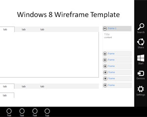 Windows 7 Wireframe Template for PowerPoint