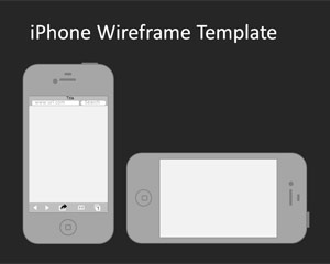 แม่แบบ iPhone Wireframe PowerPoint