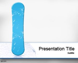 Snowboard PowerPoint Template