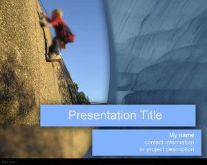Success Climbing PowerPoint Template