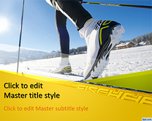 Free Ski PowerPoint Template