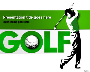 Golf Training PowerPoint Template