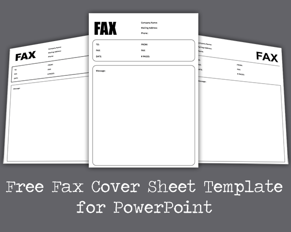 Free Fax Cover Sheet PowerPoint Template