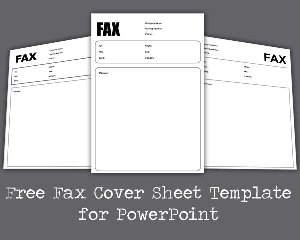 Kostenlose Fax Deckblatt Powerpoint Vorlage Powerpoint Vorlagen