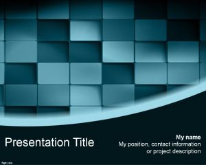 Шаблон 3D Blue Blocks PowerPoint
