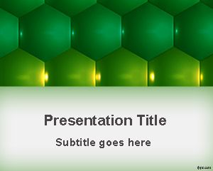 Format verde hexagoane PowerPoint