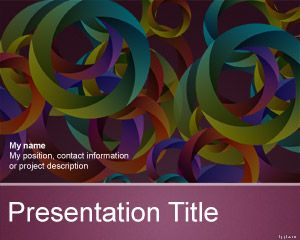 Abstract Circles Multicolor PowerPoint Template