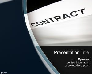 Contract Powerpoint-Vorlage