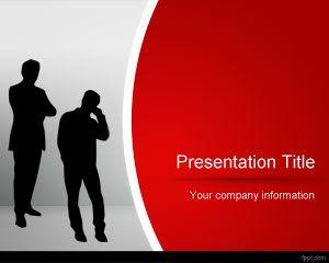 レッドビジネスpowerpointのテンプレート powerpointテンプレート無料