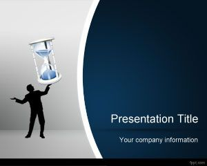 Template Sand Clock PowerPoint