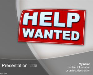 Help Wanted Powerpoint-Vorlage