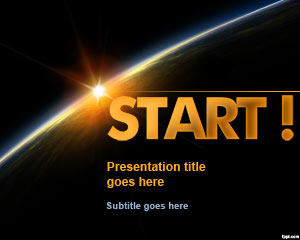 Start PowerPoint Template Dark Horizon