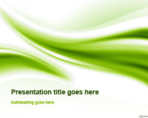 Green Abstract Curves PowerPoint Template