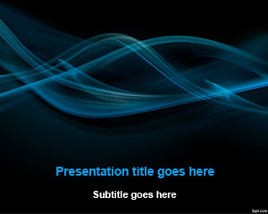 Black Smoke Abstract PowerPoint Template