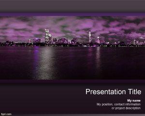 Night Skyscraper PowerPoint Template