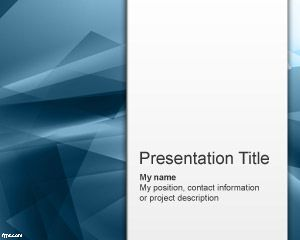 Blue Abstraction PowerPoint Template