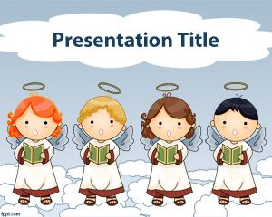 Choir of angels PowerPoint Template