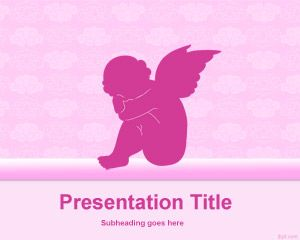 Baby Angel Background Template for PowerPoint