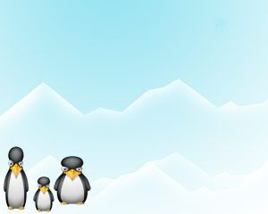 Penguin sur Powerpoint Ice