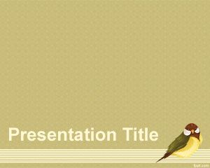 Birdie PowerPoint Template