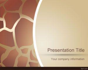 Animal Skin PowerPoint Template